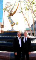 Father and Son at the Emmy Fountain