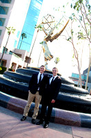 Brothers at the Emmy Fountain